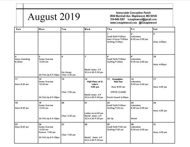 August, 2019