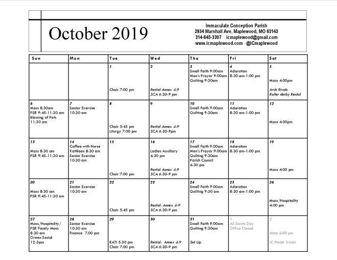 October, 2019